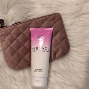 Velvet Rose Cosmetic Bag with Versace Lotion